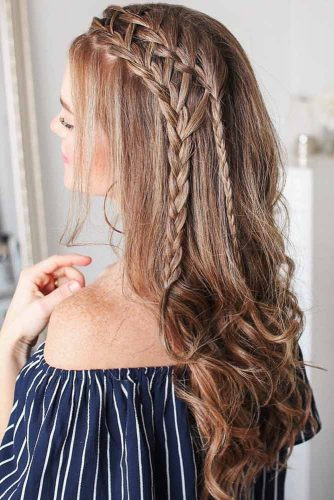 Hairstyles With Double Side Braids Ladder #braids