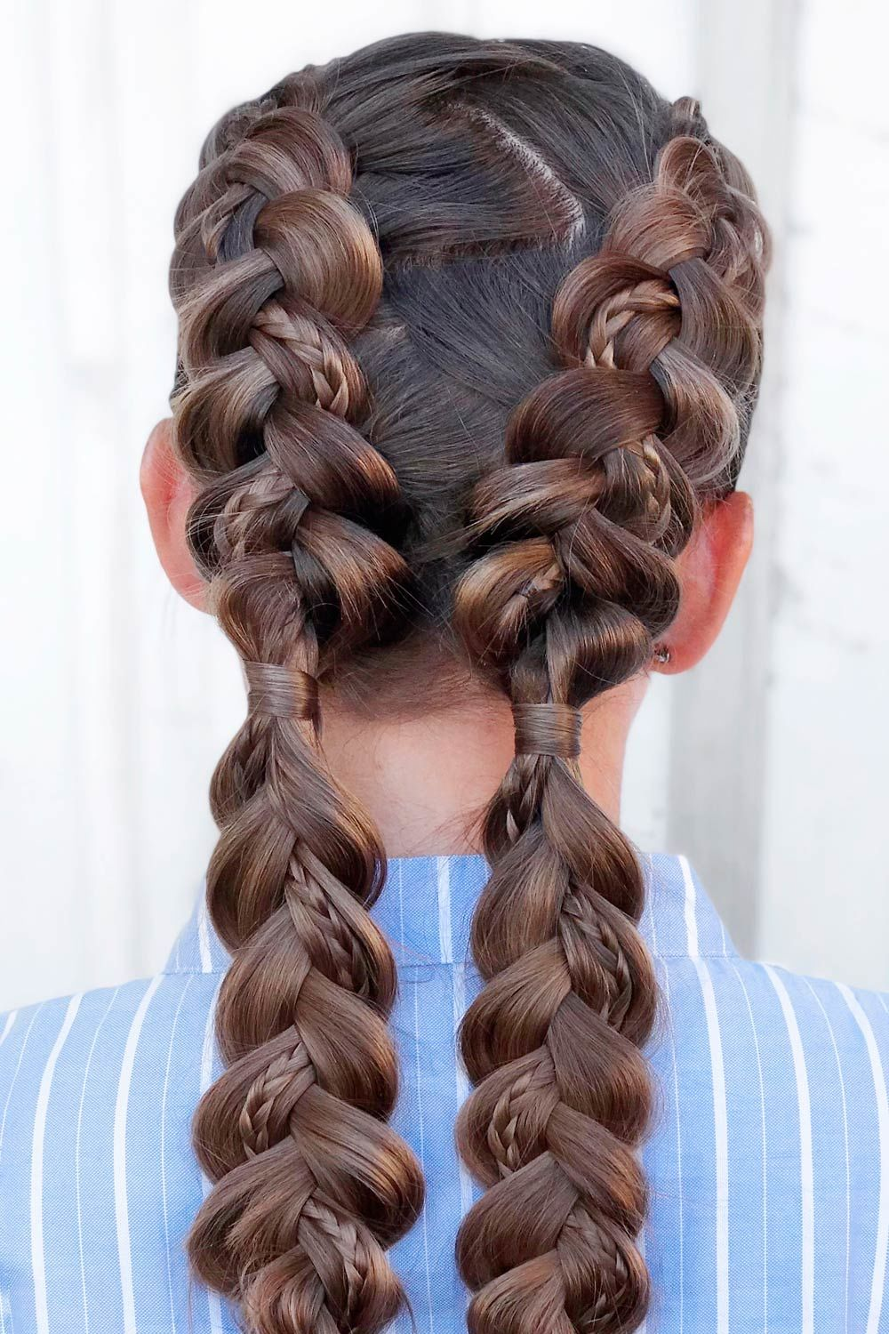 Braids Into Ponytails
