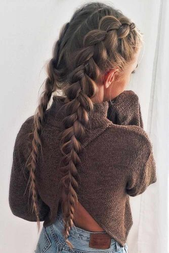 Cool Hairstyles Ideas To Try Brown #longhair #braids #brownhair