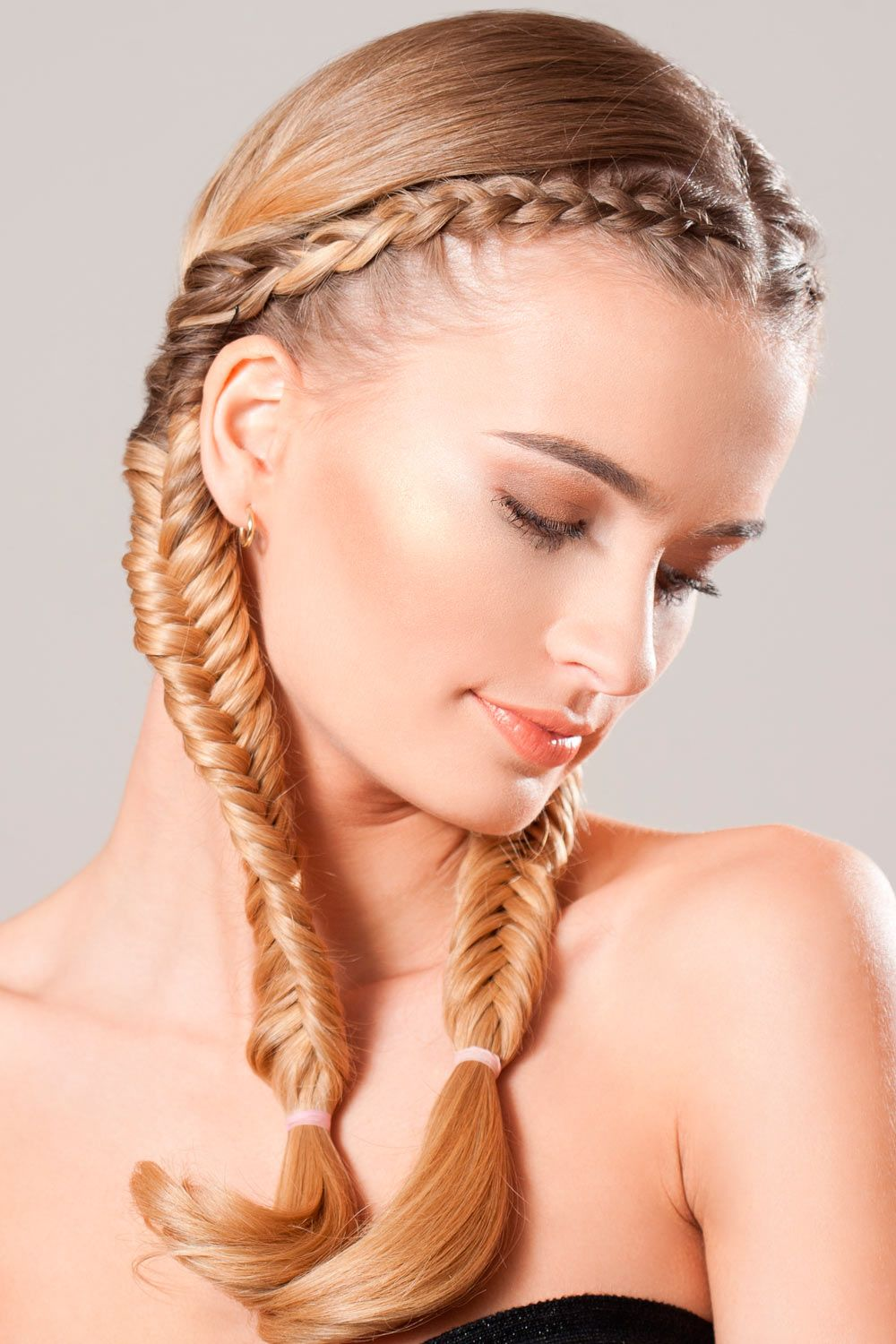 Fishtail Double Braids