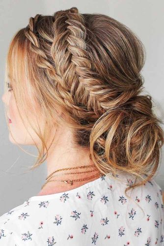 Double Braids Into Messy Buns Twist #braids #bun