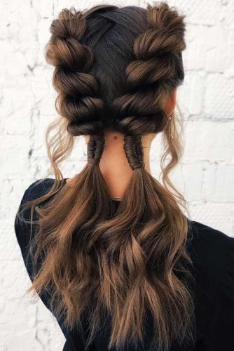 Braids Into Ponytails Twist #braids #ponytails