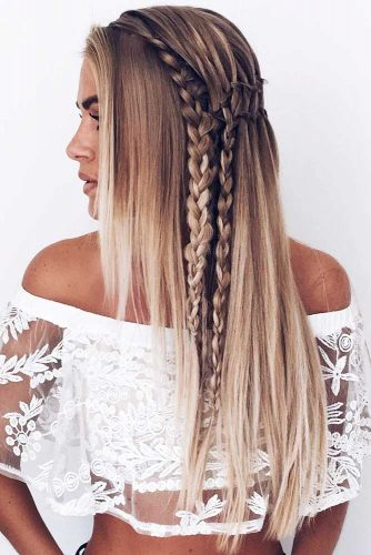 Hairstyles With Double Side Braids Waterfall #braids