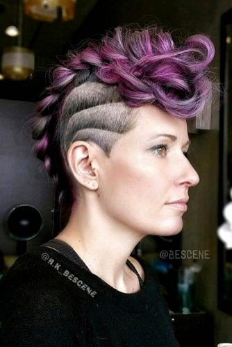 Faded And Braided Hairstyle Mohawk #fadehaircut #undercut #haircuts #braids #mohawk