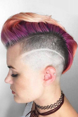 Faded Undercut With Shaved Stripe picture3
