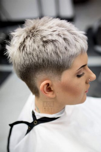 Short Hair With Undercut Fade picture1