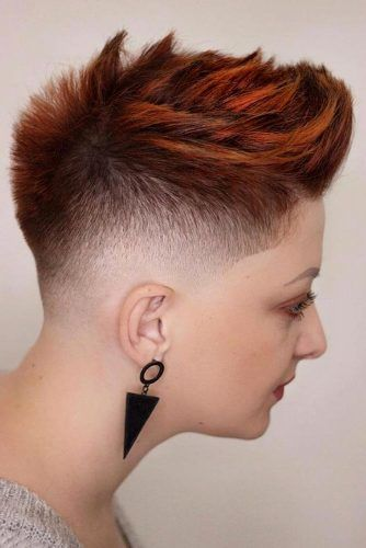 Punky Short Hair With Undercut Fade #fadehaircut #undercut #haircuts