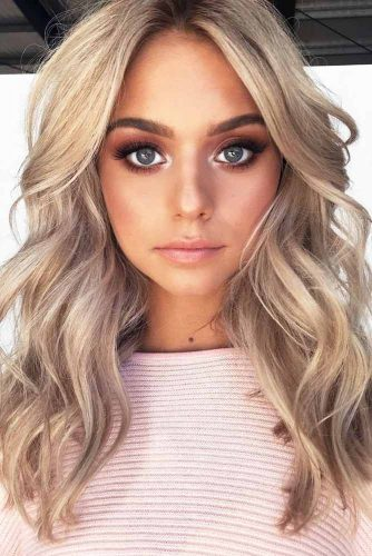 Blonde Hair Color Depends On You #blondehair #blondecolor #longhair #hairstyles #blueeyes