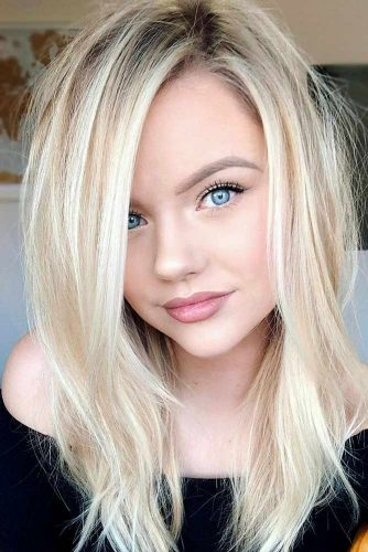 An Angelic Light Blonde Hair Color #blondehair #blondecolor #longhair #hairstyles #blueeyes