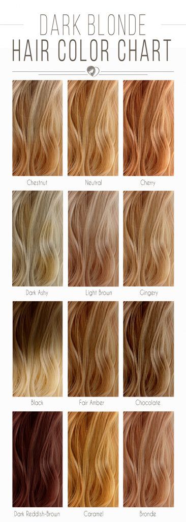Dark Blonde Hair Color Chart #blondehair