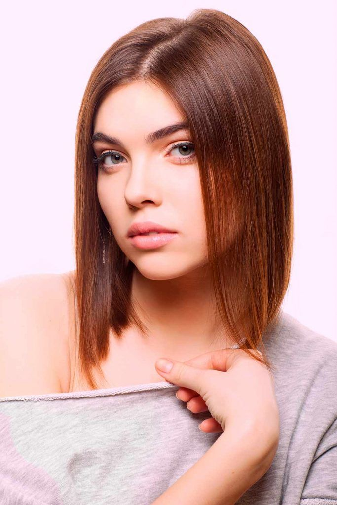 Soft And Blunt Lob For  Fine Hair