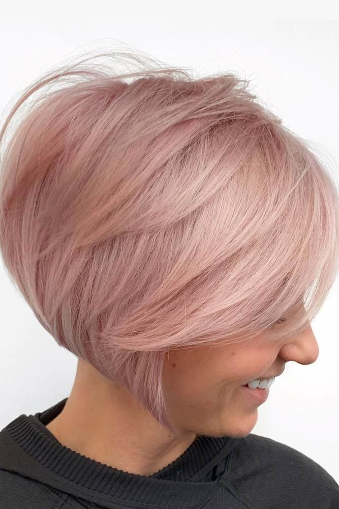 Inverted Short Rose Bob #hairstyles #finehair