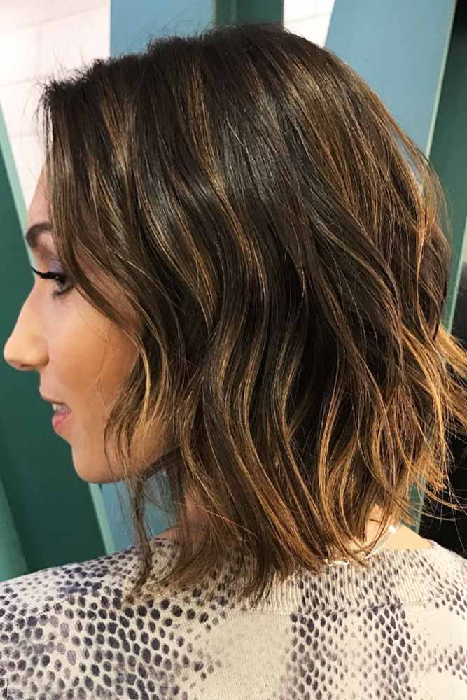 Long Messy Bob with Balayage #longbob #brownhair