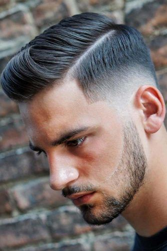 Classic Comb Over Haircut With Faded Sides #fadehaircut #combover #sidepart #comboverfade