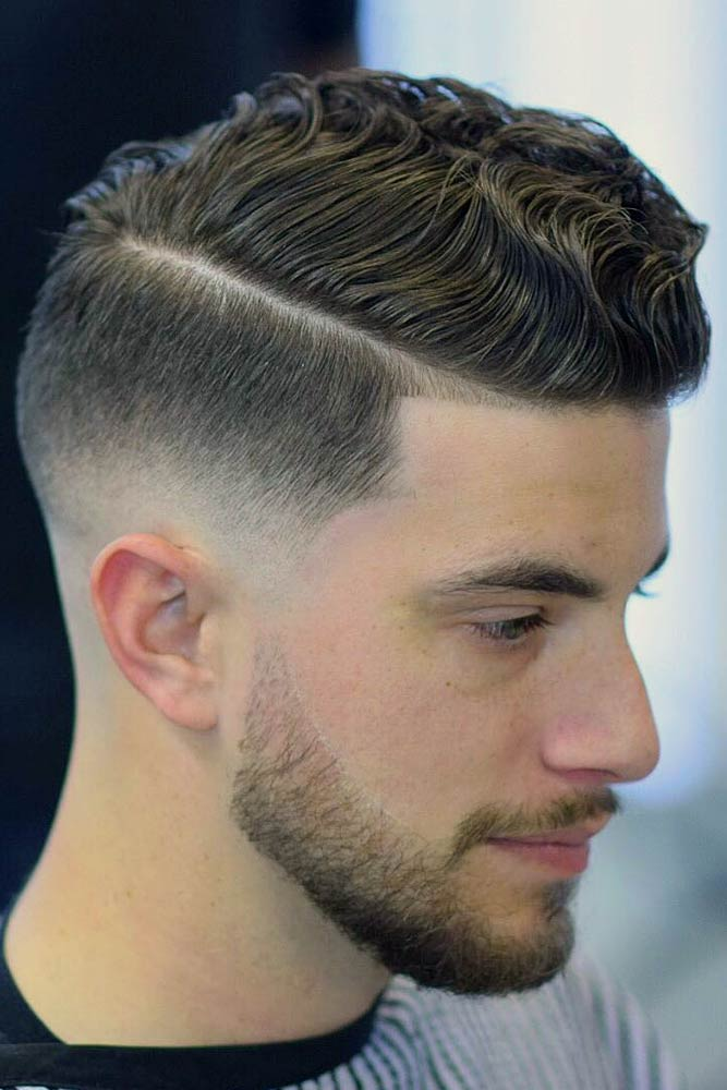 Wavy Comb Over Haircut #menhaircuts #menhairstyles