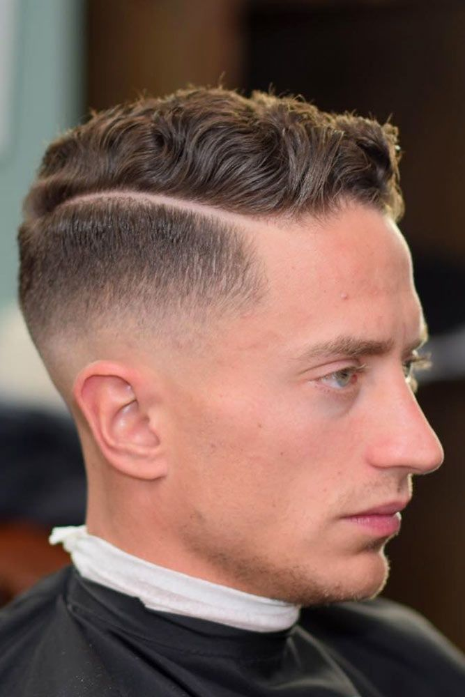 Wavy Comb Over Haircut With Fade #menhaircuts #menhairstyles