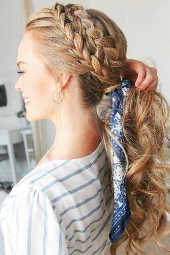Double Headband Braids Into Ponytail #braids #ponytail