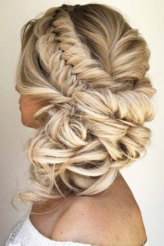Fishtail Headband Braid Updo #braids #updo