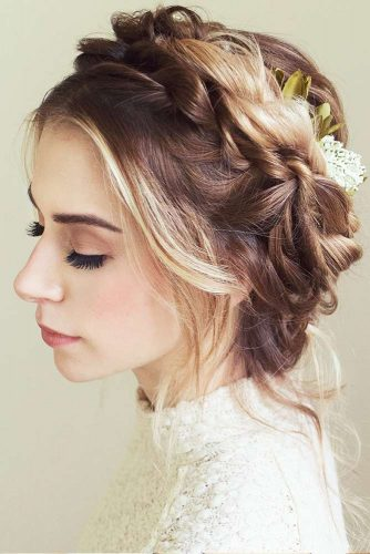 Braided Updo With Hair Accessories #updo #accessories #braids
