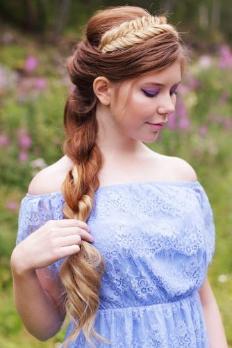 Headband With Rope Braid #longhair #braids