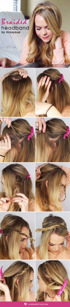 How To Create A Headband Braid