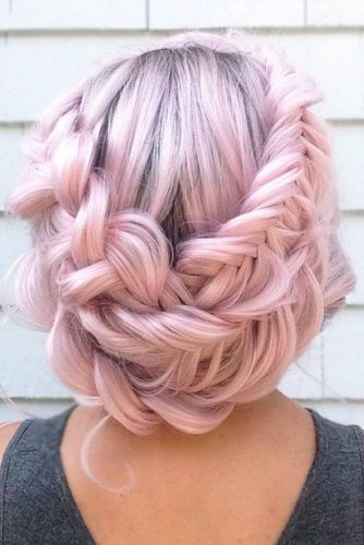 Messy Hair With Crown Braid Rose #braids #updo