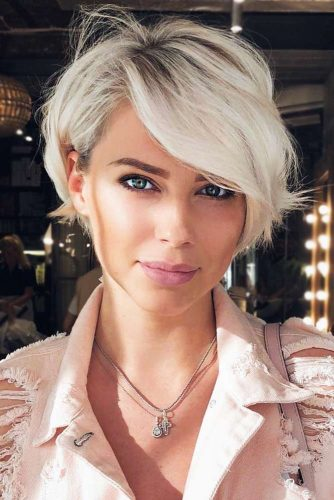 Long Pixie For Oval Face #pixie #blondehair