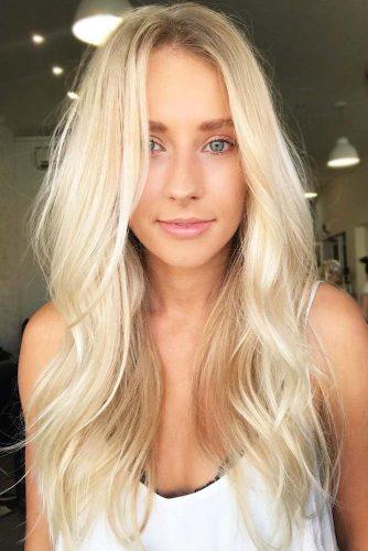 Good-Looking Oblong Face Shape #oblongface #blondehair #longhair