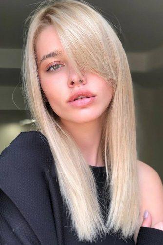 Long Side Swept Bangs #longhair #straighthair #blondehair