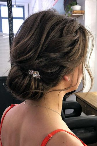 Low Bun For Elegant Ladies #updo #braids #lowbun #accessory