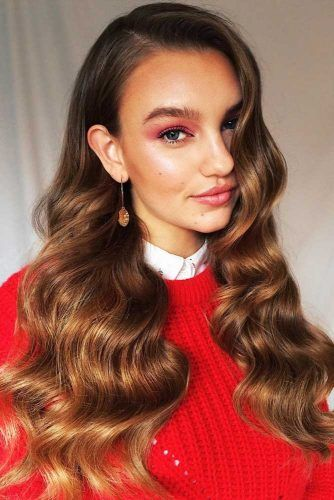 Hollywood Waves With Side Styling #wavyhair