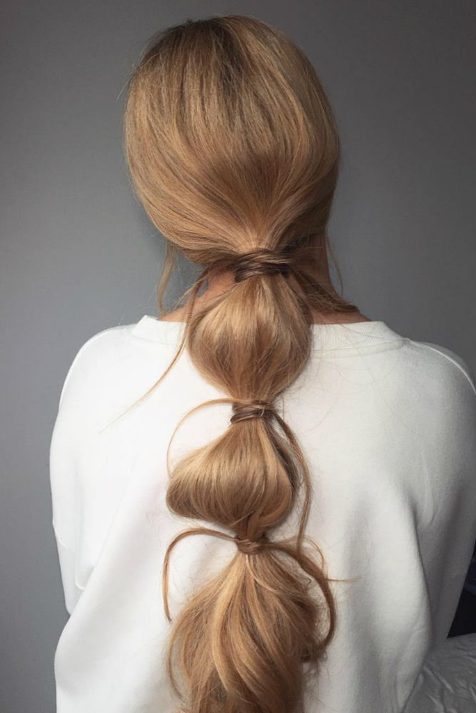 Trendy Bubble Ponytail #ponytail #bubblepony #bubbleponytail