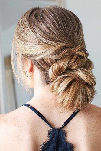 Low Twisted Bun #updo #bun