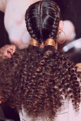 Stunning Graduation Hairstyle For Black Hair #ponytails #curlyhair #braids #blackhair #blackhairstyles