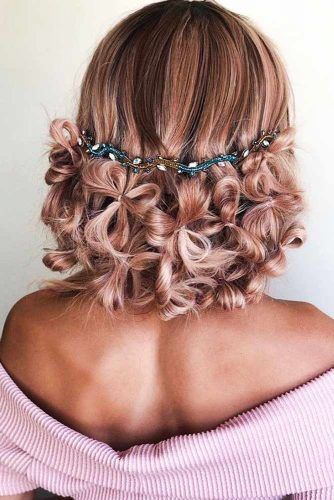 Updo With Flowered Twists #updo