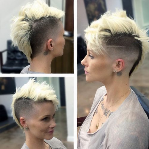 Short Blonde Mohawk #highfadehaircut #fadehaircut #shorthaircut #mohawk #blondehair