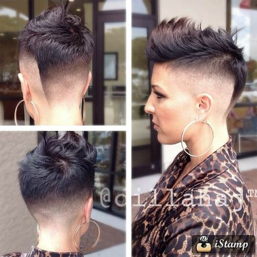 Short Spiky Mohawk #highfadehaircut #fadehaircut #shorthaircut #mohawk #brownhair