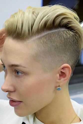 Side Part Fade Haircut #highfadehaircut #fadehaircut #shorthaircut #shorthair #blondehair