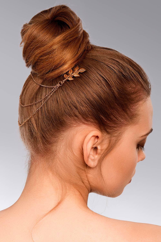 Hight Top Bun With Designed Hair Pin