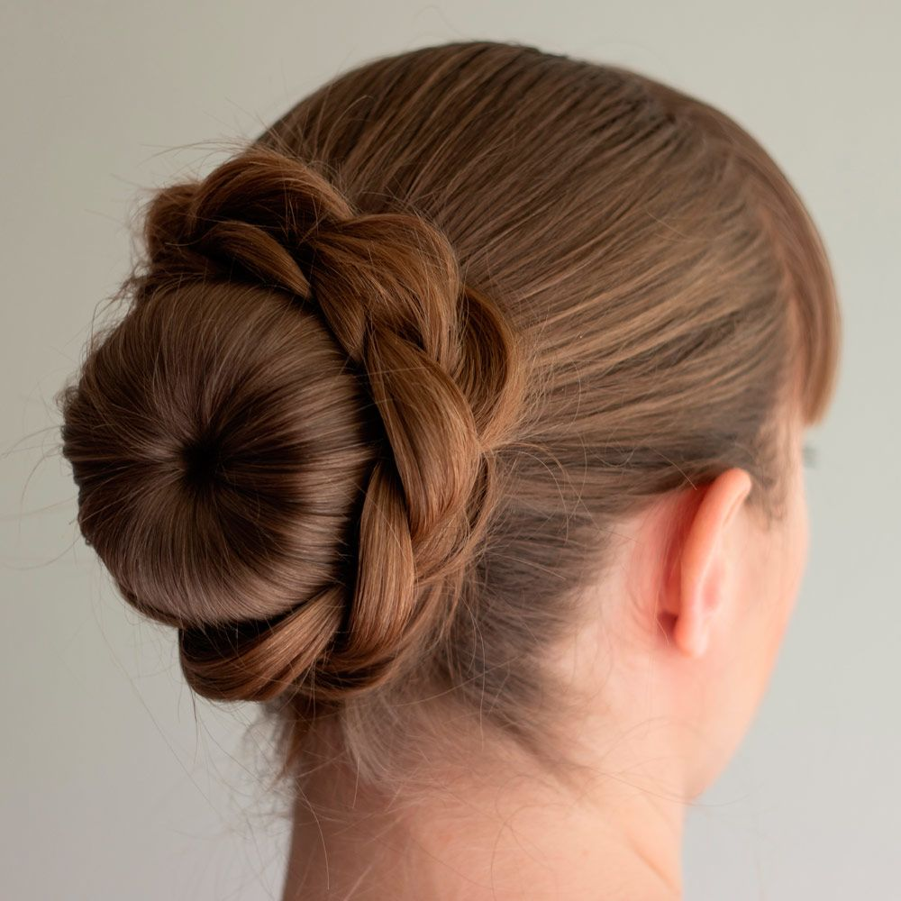 braided Hairstyle With Donut-Bun