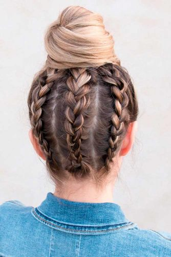 High Braided Bun #highbun #braidedbun #easyhairstyles #easyupdo