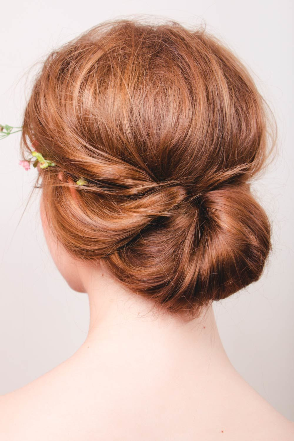 Hairstyle With Low Twisted Bun