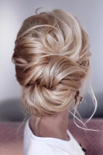 Twisted Messy Low Bun