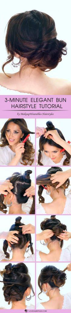 3 Minute Elegant Bun Hairstyle