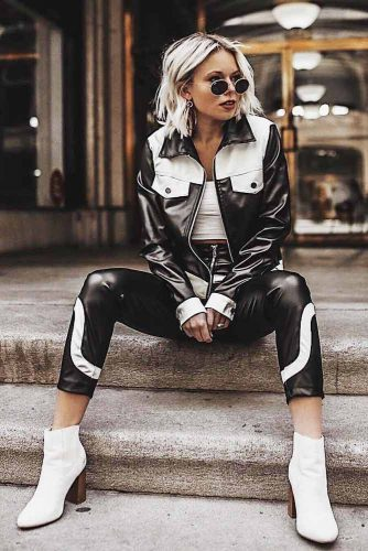 Black And White Casual Outfits #howtostyleyourhair #tomboyoutfits #tomboystyle #bobhaircut #shorthair