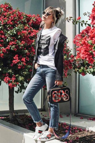 Boyfriend Jeans For Stylish Girlfriends #howtostyleyourhair #tomboyoutfits #tomboystyle #boyfriendjeans #longhair