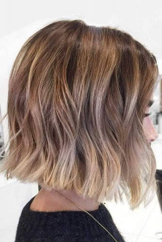Dimensional Highlights #shortombrehair #highlights #shorthair #bobhaircut #brownhair