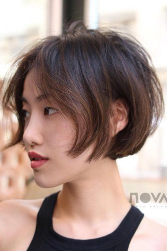 Brown Ombre Color For Natural Look #shortombrehair #hairstyles #shorthair #bobhaircut #browncolor