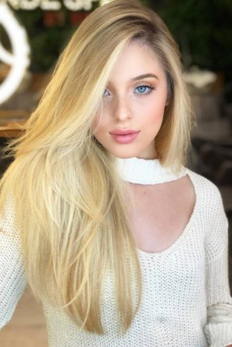 Wheat Blonde Side-Swept Hair #longhair #blondehair #