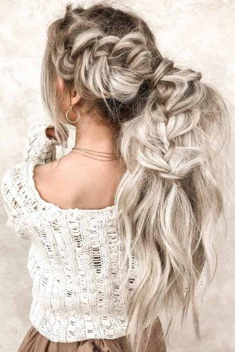 Messy Braided Ponytail